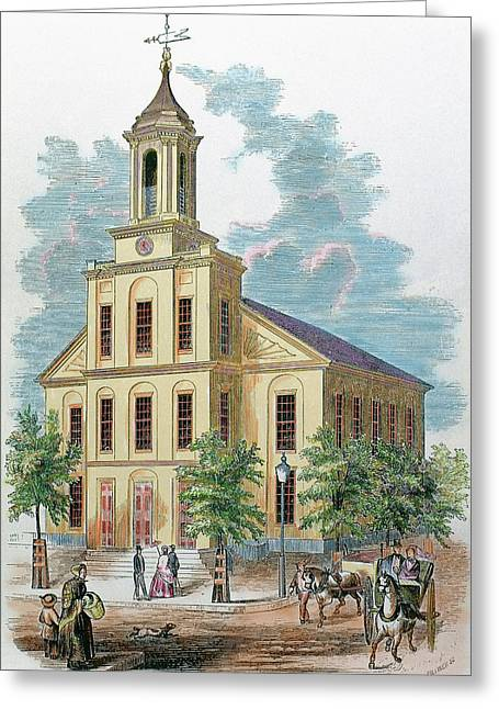 St Charles' Church Boston Greeting Card