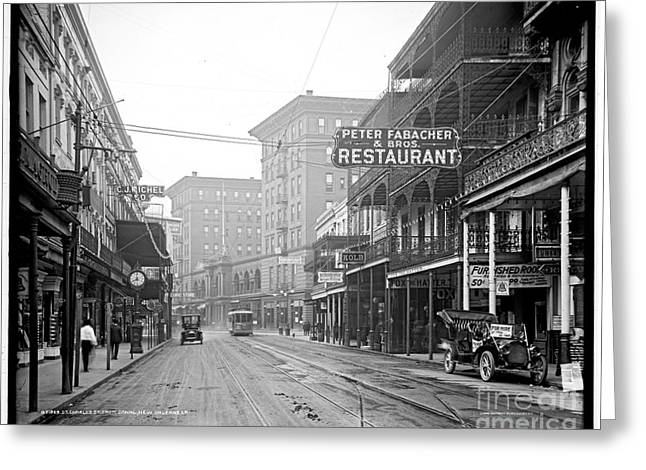 St Charles Street New Orleans Greeting Card