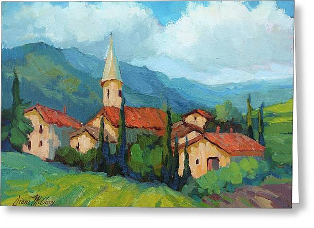 St. Colombe Provence Greeting Card by Diane McClary