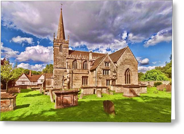 St Cyriac Church Lacock Greeting Card