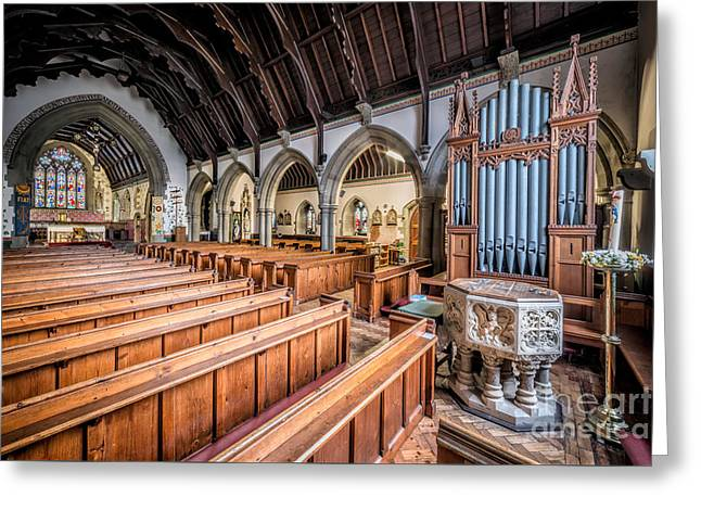 St David Church Greeting Card by Adrian Evans