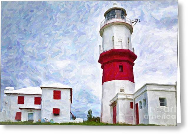 Greeting Card featuring the photograph St. David's Lighthouse by Verena Matthew