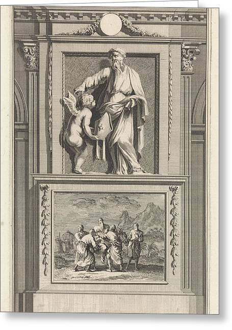 St. Dionysius Of Alexandria, Church Father Greeting Card by Jan Luyken And Zacharias Chatelain (ii) And Jan Goeree