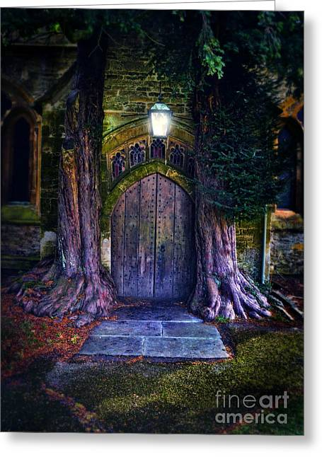 St Edwards At Stow On The Wold Greeting Card by Jill Battaglia