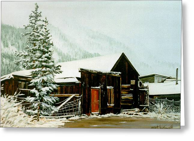 Greeting Card featuring the painting St Elmo Snow by Craig T Burgwardt