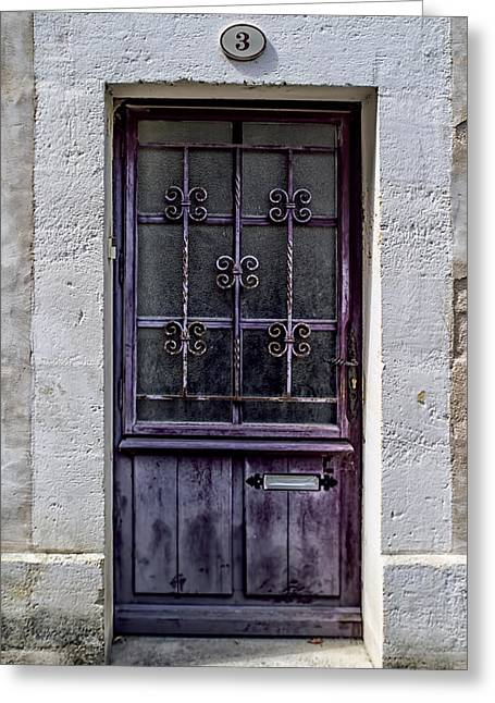 St Emilion Door Greeting Card by Georgia Fowler