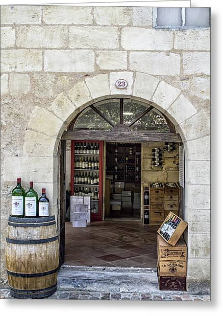St Emilion Wine Shop Greeting Card