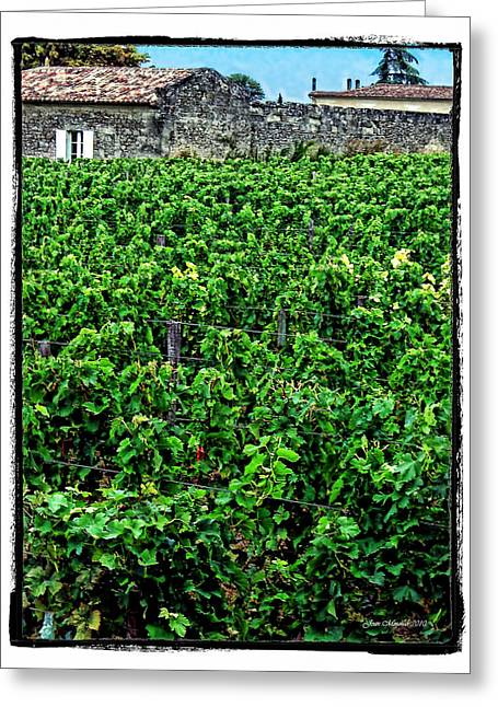 Greeting Card featuring the photograph St. Emilion Winery by Joan  Minchak