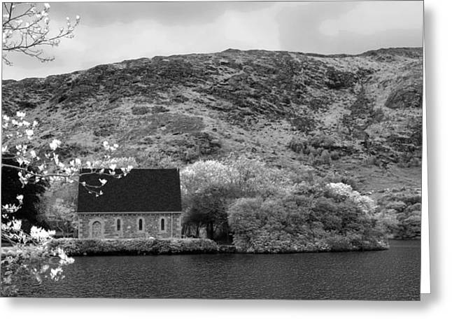St Finbarr's Oratory - Gougane Barra  Greeting Card by Lyle McNamara