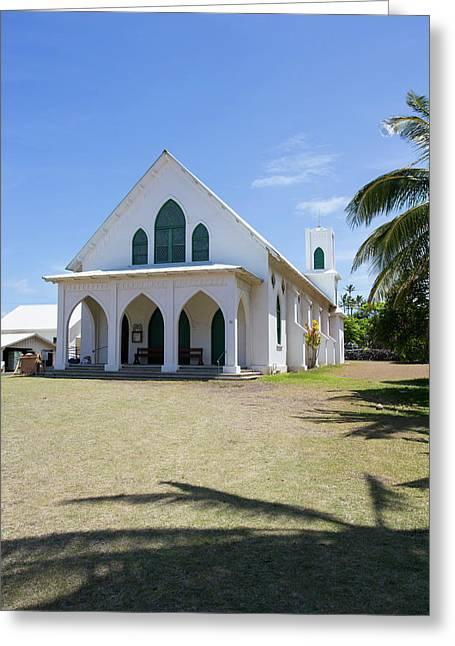 St Francis Church, Kalaupapa Town Greeting Card by Douglas Peebles