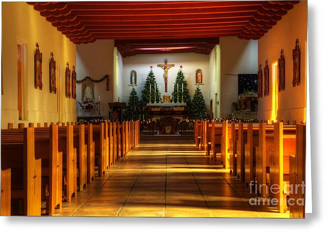St Francis De Paula Mission Tularosa Greeting Card by Bob Christopher