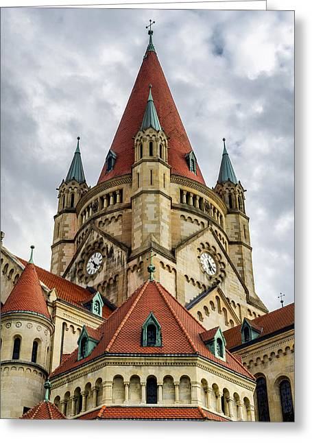 St. Francis Of Assisi Church In Vienna Greeting Card