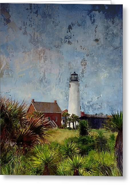 St. George Island Historic Lighthouse Greeting Card