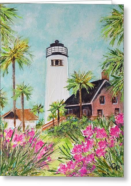 St. George Island's Lighthouse Greeting Card