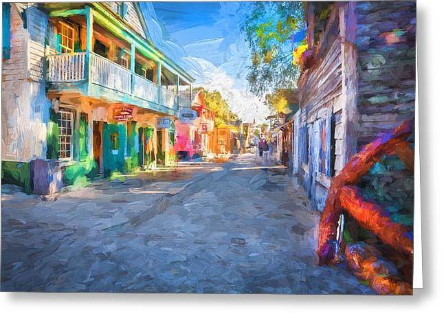 St George Street St Augustine Florida Painted Greeting Card