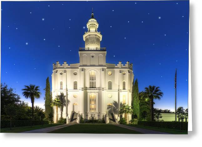St. George Temple 2 Greeting Card