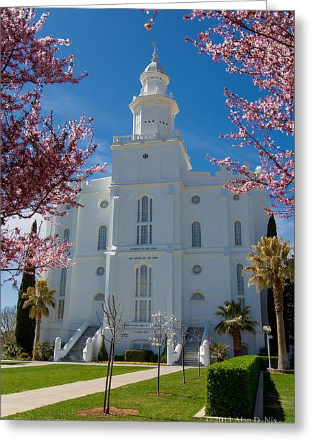 St George Temple 5 Greeting Card