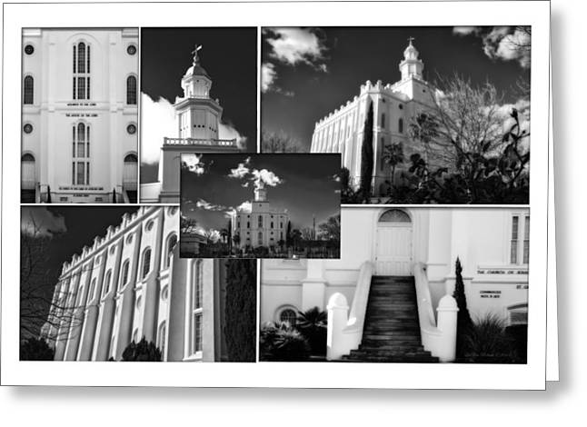 St George Temple Montage Greeting Card