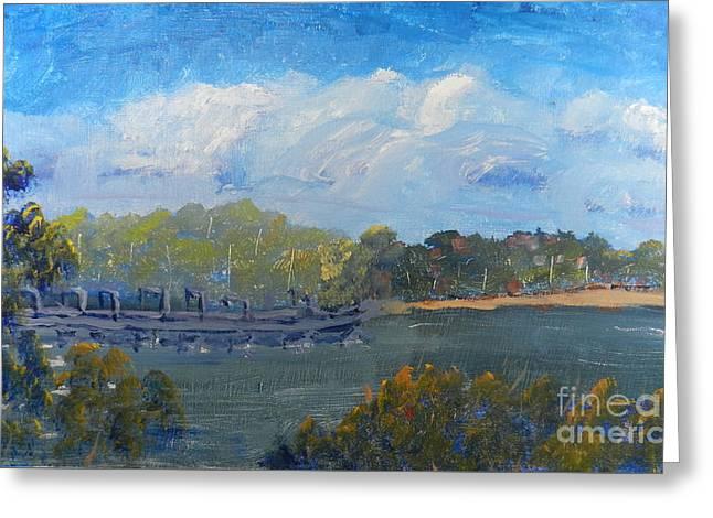 St Georges River Near Como Marina  Greeting Card