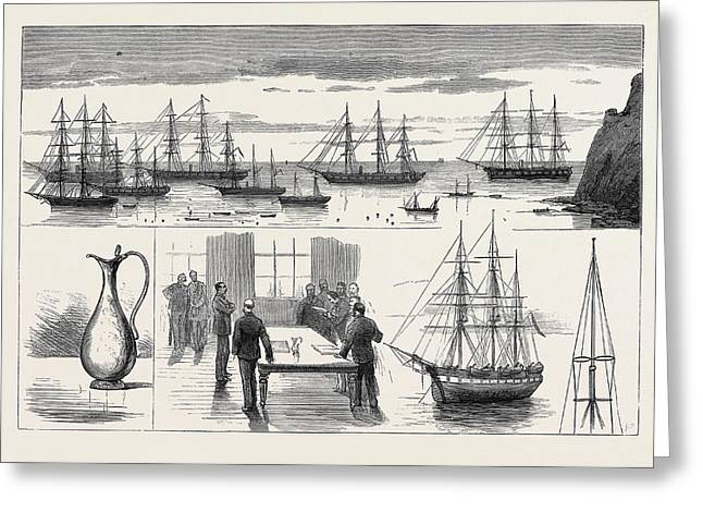 St. Helena The Detached Squadron At Anchor Greeting Card by English School