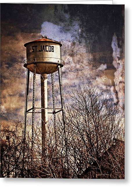 St. Jacob Water Tower 2 Greeting Card by Marty Koch