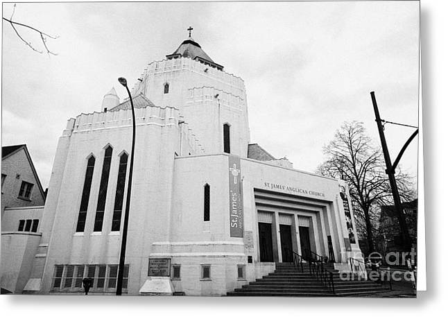 st james anglican church first anglican parish in Vancouver BC Canada Greeting Card