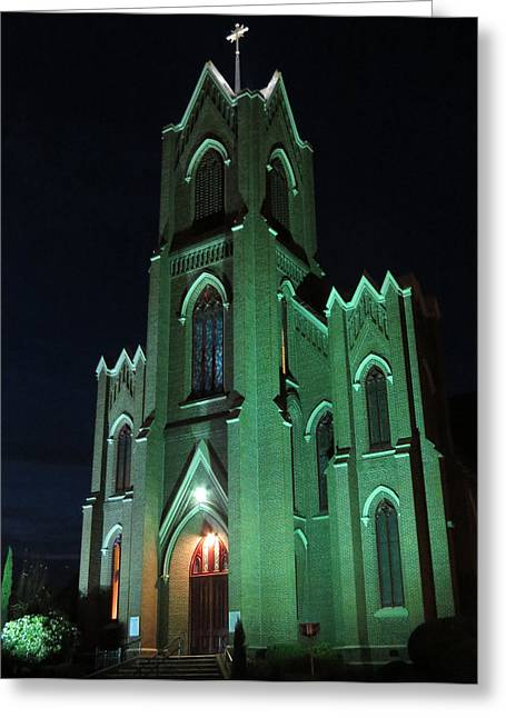 St James Catholic Church In Vancouver Washington Greeting Card