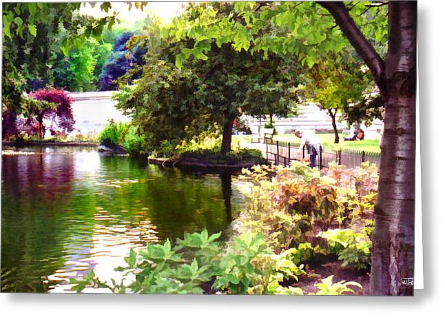 Greeting Card featuring the digital art St James Park 1 by Helene U Taylor