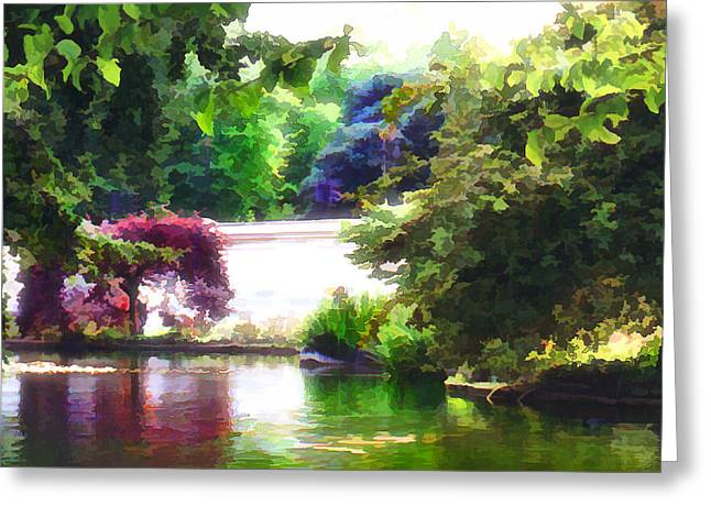 Greeting Card featuring the digital art St James Park 2 by Helene U Taylor