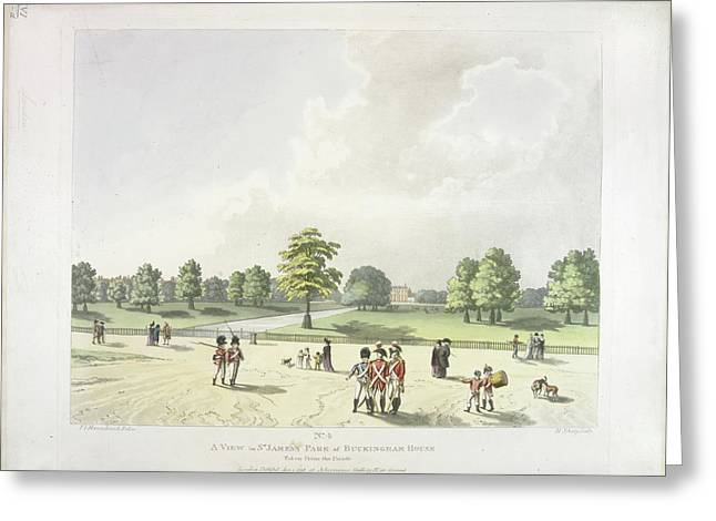 St James's Park In The Eighteenth Century Greeting Card by British Library