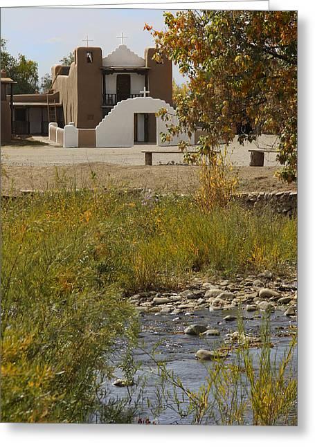 St. Jerome - Taos Pueblo Greeting Card by Mike McGlothlen