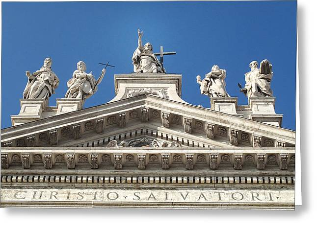 Greeting Card featuring the photograph St. John Lateran by Joe Winkler