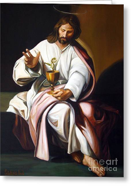 St John The Evangelist Greeting Card