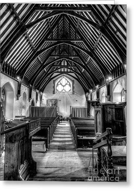 St John Ysbyty Ifan Greeting Card by Adrian Evans