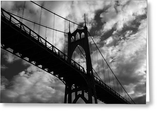 St Johns Bridge Greeting Card