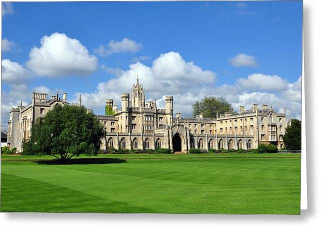 St. John's College Cambridge Greeting Card