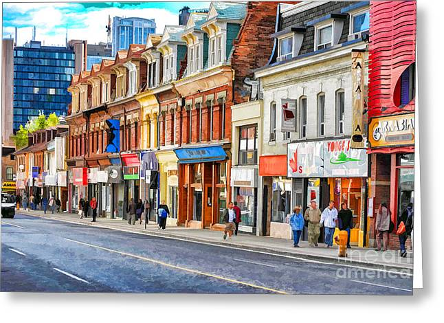 Yonge Street In Toronto Greeting Card