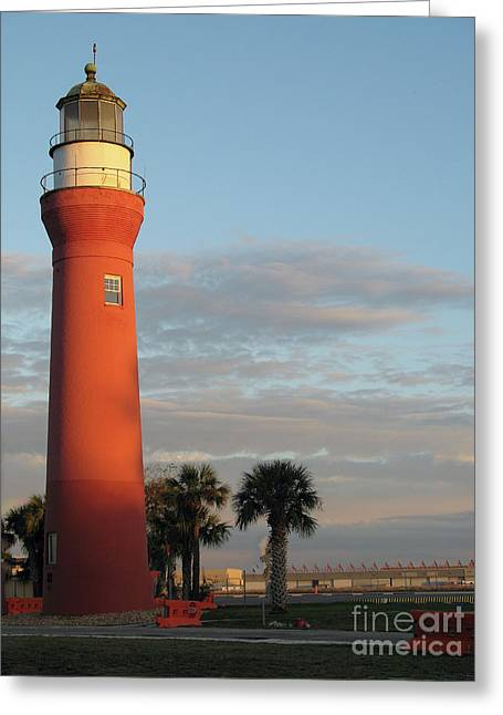 St. Johns River Lighthouse II Greeting Card by Christiane Schulze Art And Photography