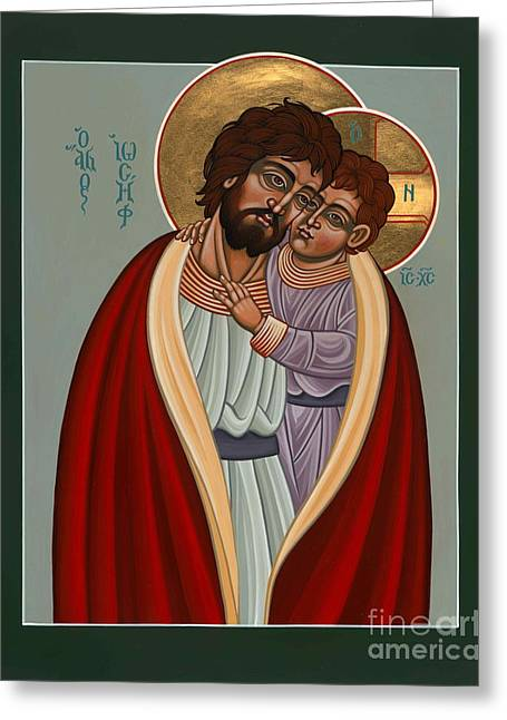 St. Joseph And The Holy Child 239 Greeting Card
