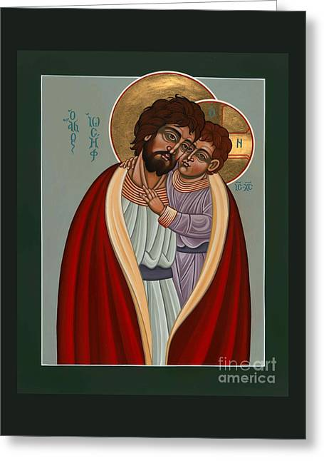 Greeting Card featuring the painting St. Joseph And The Holy Child 239 by William Hart McNichols