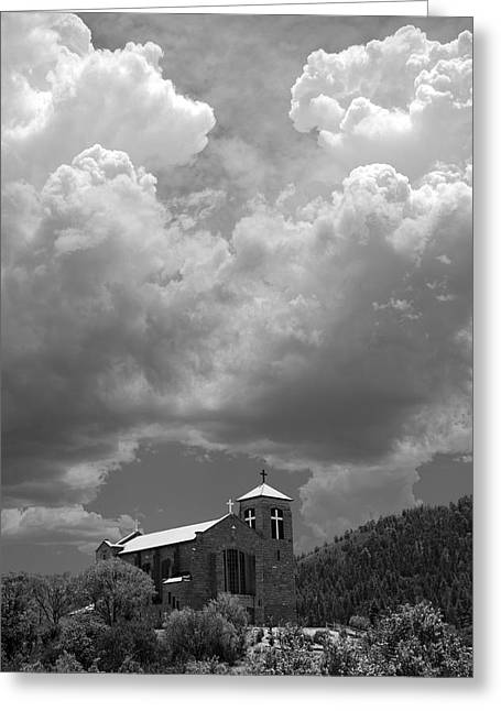 St Joseph Church Mescalero New Mexico Greeting Card by Mark Goebel