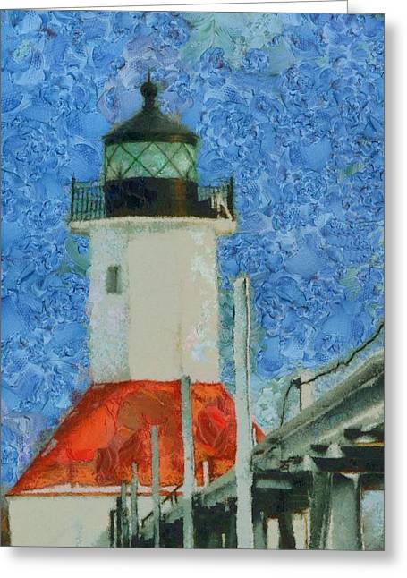 St. Joseph Lighthouse Lake Michigan Greeting Card by Dan Sproul