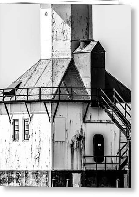 St. Joseph Lighthouse Vertical Panorama Picture  Greeting Card by Paul Velgos