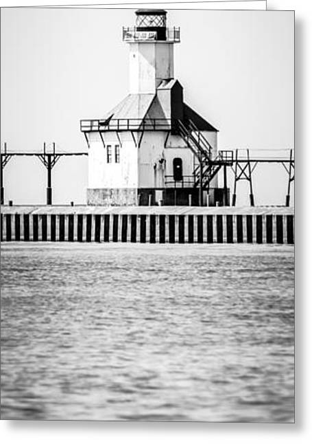 St. Joseph Lighthouse Vertical Panoramic Photo Greeting Card by Paul Velgos