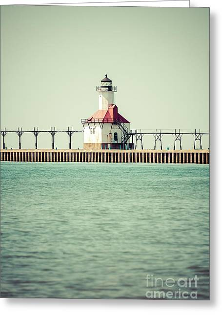 St. Joseph Lighthouse Vintage Picture  Greeting Card