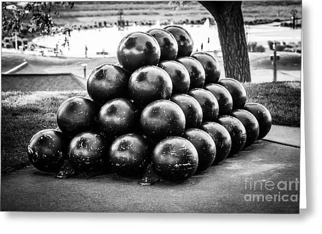 St. Joseph Michigan Cannon Balls Picture Greeting Card