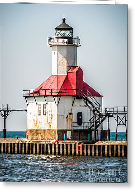 St. Joseph Michigan Lighthouse Picture  Greeting Card