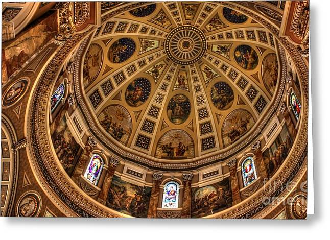 St. Josephat Dome Greeting Card by David Bearden