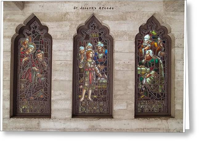 St Josephs Arcade - The Mission Inn Greeting Card
