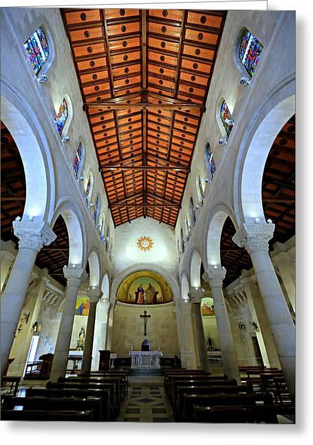 St. Joseph's Church -- Nazareth Greeting Card by Stephen Stookey